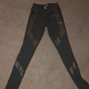 Express leather trim leggings